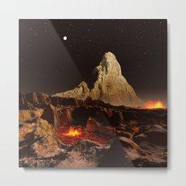 Tohil Mons, Io Metal Print
