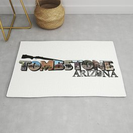 Tombstone Arizona Big Letter Rug