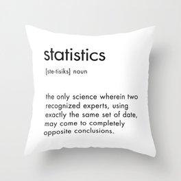 Statistics Definition Throw Pillow