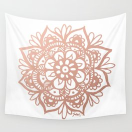Rose Gold Mandala Wall Tapestry