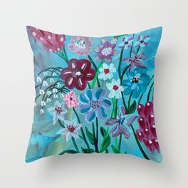 Flowers III Throw Pillow
