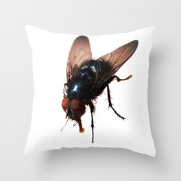 Pretty Giant Fly for Insect Lovers Throw Pillow