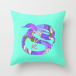 12 ZODIAC: YEAR OF THE SNAKE Throw Pillow