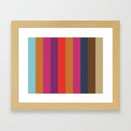 COMPROMISE : C(yan) O(chre) M(agenta) P(urple) R(ed) O(chre) M(agenta) I(ndigo) S(epia) E(cru) Framed Art Print