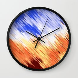 blue brown and white painting texture abstract background Wall Clock