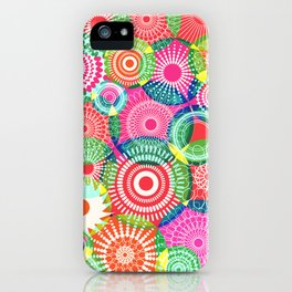 Kooky kaleidoscope Multicolored iPhone Case