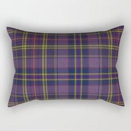 Purple Tartan Rectangular Pillow