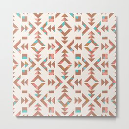 Tribal Geometry No.003 / Nomade Summer Metal Print