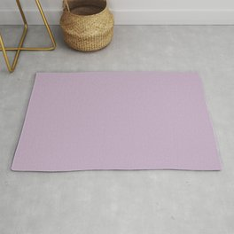Simple Solid Color Wisteria Purple All Over Print Rug