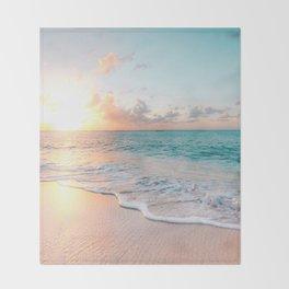Pink Sea Throw Blanket
