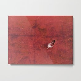 Afloat in a Sea of Red Metal Print