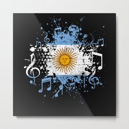 Argentina Music Flag Metal Print