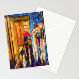 Love In The Rain Stationery Cards
