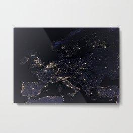 Europe at Night Metal Print