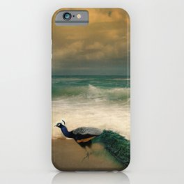 Peafowl On The Beach iPhone Case