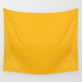 Sun Drenched Honey Mustard - Subtle Brush Texture Wall Tapestry