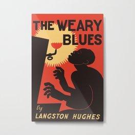 Retro The Weary Blues (music) Metal Print