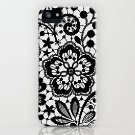 Black Lace. Pattern. iPhone Case