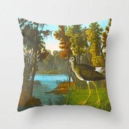 Yellow Shank Bird Throw Pillow