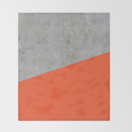 Concrete and Flame Color Throw Blanket