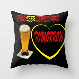 BEER FREE Throw Pillow