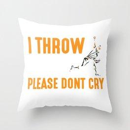 Softball Pitcher Baseball Player Kid Throw Hard Throw Pillow