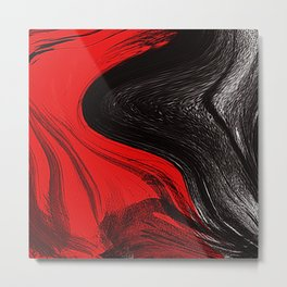 Abstract art red and blacks Metal Print