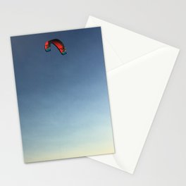 Red Solo Parakite Flies High Stationery Cards
