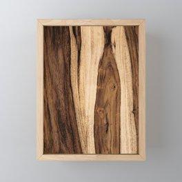 Sheesham Wood Grain Texture, Close Up Framed Mini Art Print
