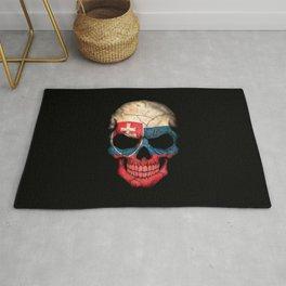 Dark Skull with Flag of Slovakia Rug