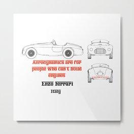 Enzo - Quote - Motor Sport Metal Print