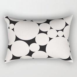 Circular Collage - Black & White II Rectangular Pillow