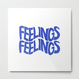 Feelings   Blue Metal Print