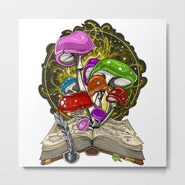 Fairy Magic Mushrooms  Metal Print