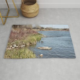 Ducks on the Bow River Rug