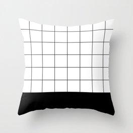 Scandi Grid Sq B Throw Pillow