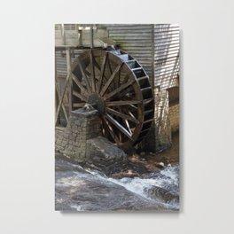 Grist Mill Grinding Metal Print