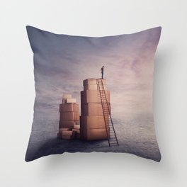 moving time Throw Pillow
