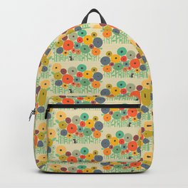 Cat in flower garden Backpack