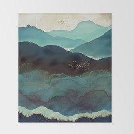 Indigo Mountains Throw Blanket