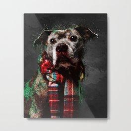 A5 - The Stylish Dog, Abstract Art. Metal Print