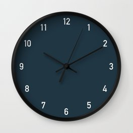 Numbers Clock - Storm Wall Clock