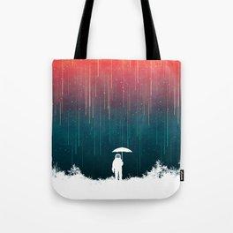 Meteoric rainfall Tote Bag