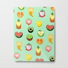 Fruit hearts Metal Print