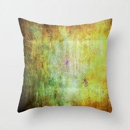 Abstract Grunge Scratchy Dark Yellows Throw Pillow
