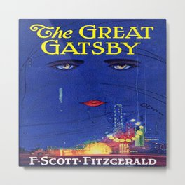 The Great Gatsby vintage book cover - Fitzgerald Metal Print