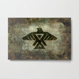 Thunderbird flag - Vintage grunge version Metal Print