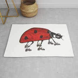 Ladybug Wearing Tap Shoes Gotta Dance Rug