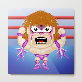 Warrior Style Character Metal Print