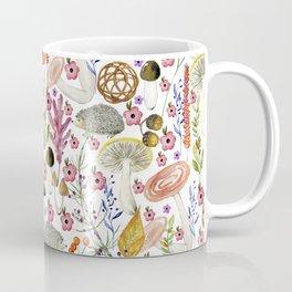 Colorful Autumn woodland animals and foliage pattern Coffee Mug